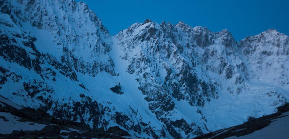 Écrins, Roche Faurio, couloir, skitour, mountain, alps