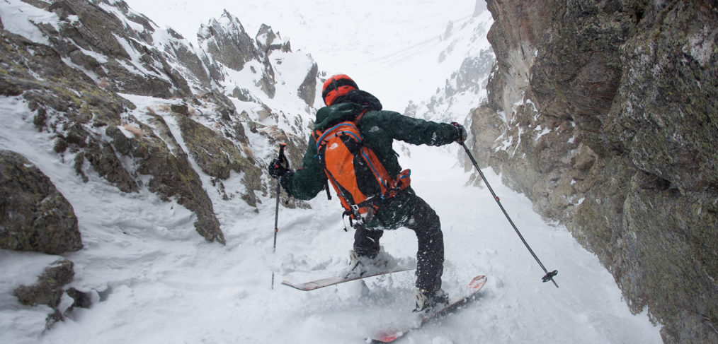 couloir, fontfreda, porté puymorens, pirineo, pirineu, Pyrénées, esquí, pente raide, skimo, alpinismo, alpinism, snow